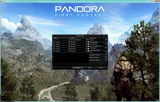 Pandora - First contact - options